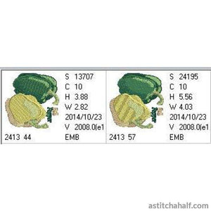Organic Green And Yellow Bell Peppers Embroidery Fill