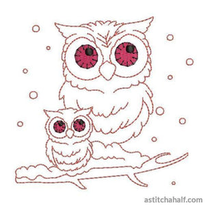 Owls of a Feather Combo - a-stitch-a-half