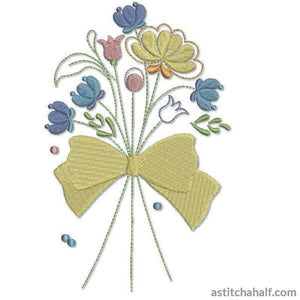 Paddock Bow Bouquet Embroidery Fill