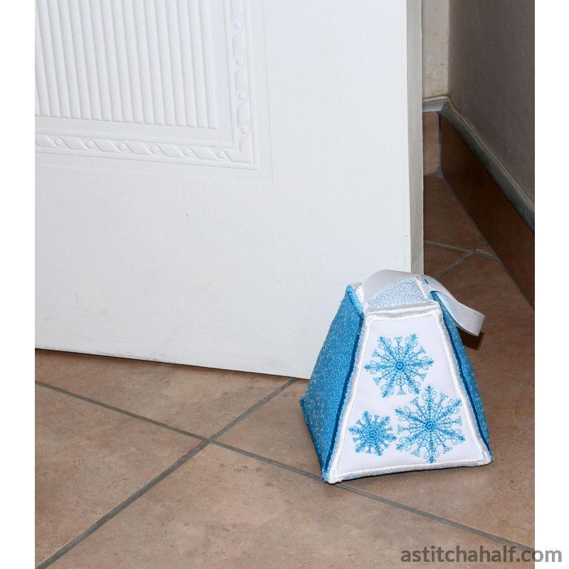 Paper Weight And Door Stopper Snowflakes Applique