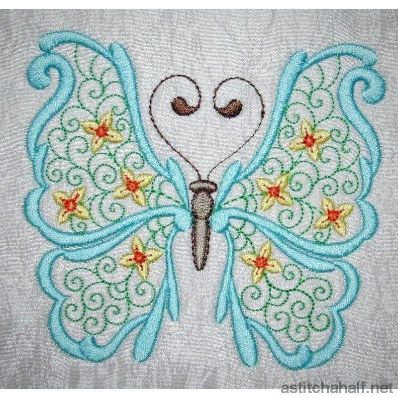 Paradise Butterfly 01 Embroidery Fill