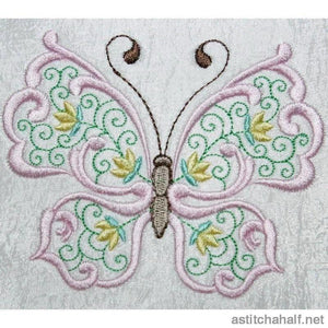 Paradise Butterfly 02 Embroidery Fill