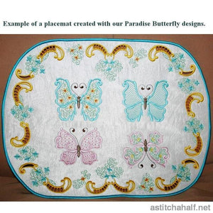 Paradise Butterfly 04 Embroidery Fill