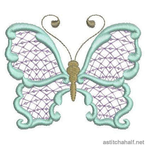 Paradise Butterfly 08 Embroidery Fill