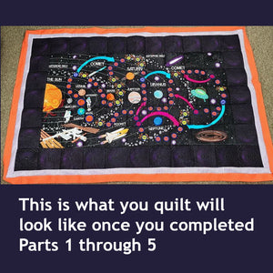 Space Exploration Quilt and Game Part 1 of 5