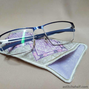 Pastel Dreams Eyeglass Case - a-stitch-a-half