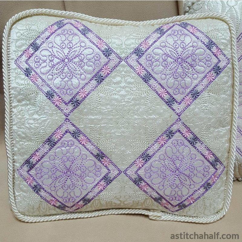 Pastel Dreams Pillow Quilt - a-stitch-a-half