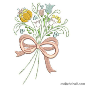 Pasture Bow Bouquet - a-stitch-a-half