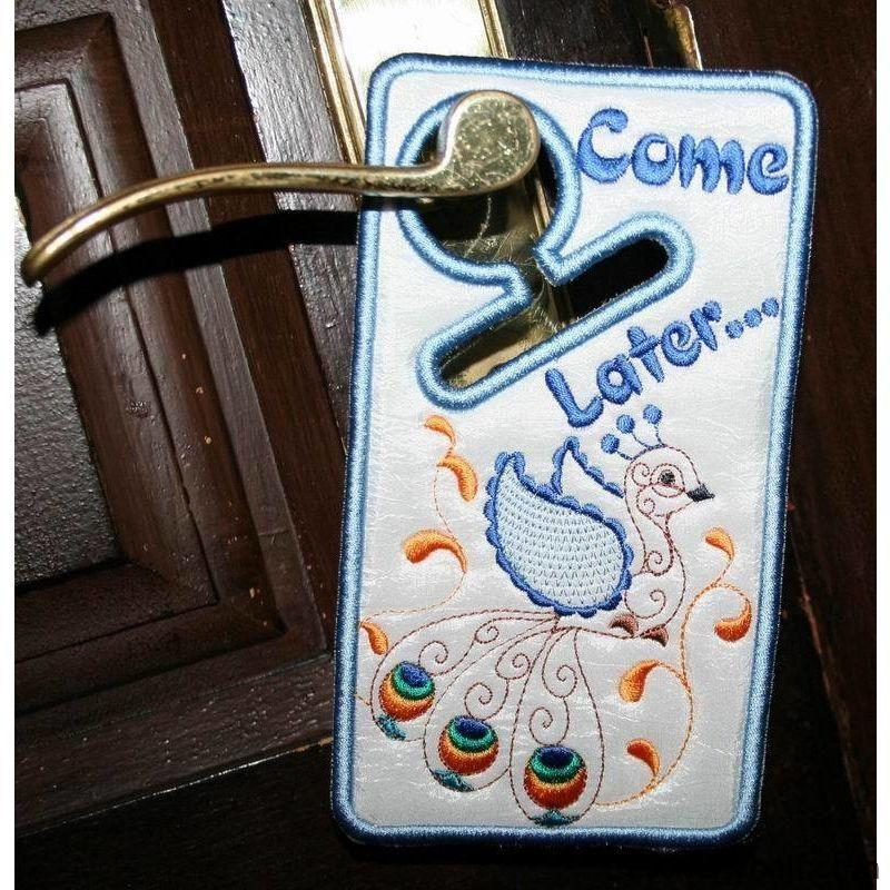 Peacock Door Hanger - a-stitch-a-half