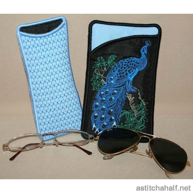 Peacock Eyeglass Cases 01 All In The Hoop