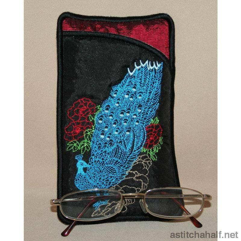 Peacock Eyeglass Cases 02 - a-stitch-a-half