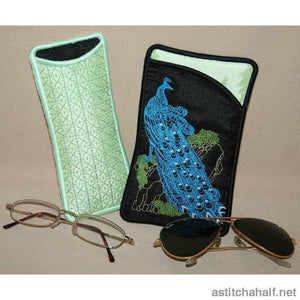 Peacock Eyeglass Cases 03 - a-stitch-a-half