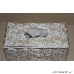 Pearly Promise Tissue Box Cover Applique