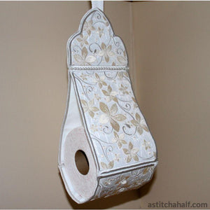 Pearly Promise Toilet Roll Holder - a-stitch-a-half