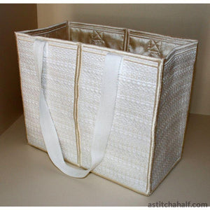 Pearly White Feathery Light Tote Bag Applique
