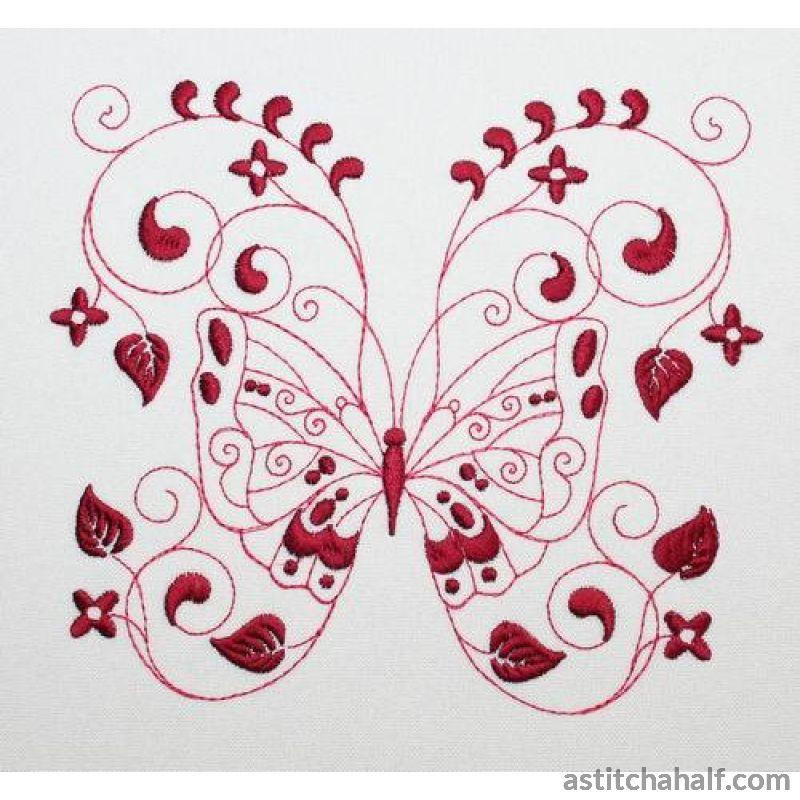 Penche Butterfly Dance Embroidery Fill