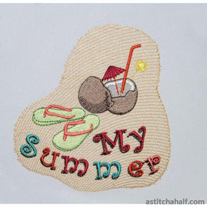 Pina Colada Summer Embroidery Fill