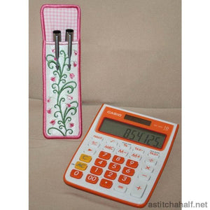 Pink Sprinkles Pen and Pencil Sleeve - a-stitch-a-half
