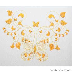 Pirouette Butterfly Dance Embroidery Fill