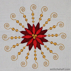 Poinsettia Allure Embroidery Fill