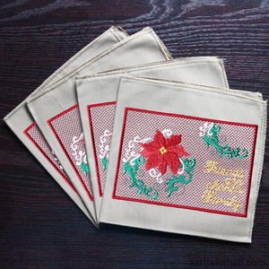 Poinsettia Friends are chosen Family - a-stitch-a-half