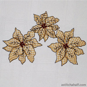 Poinsettia Magnificence Lace
