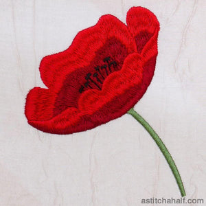 Poppy Perfect - a-stitch-a-half