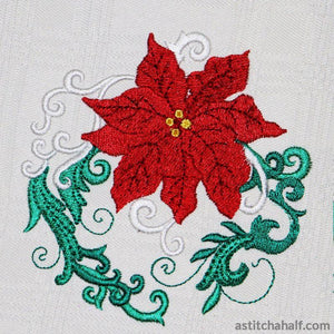Popular Poinsettia 3 Ways Embroidery Fill