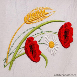 Popular Poppies Grain And Daisy Running Stitch