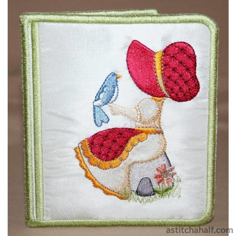 Pretty Bonnet Wallet - a-stitch-a-half