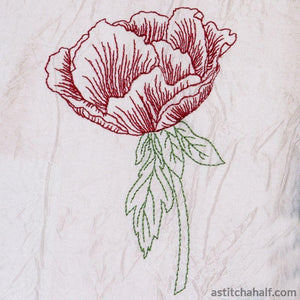 Pretty Poppy - a-stitch-a-half
