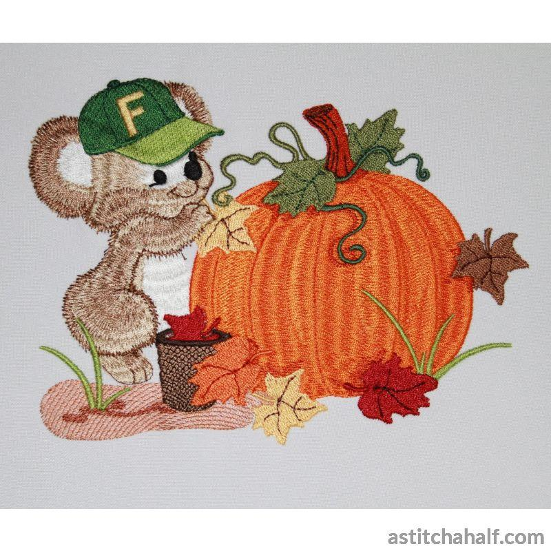 Pumpkin Fuzzy Boy Embroidery Fill