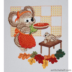 Pumpkin Fuzzy Girl - a-stitch-a-half