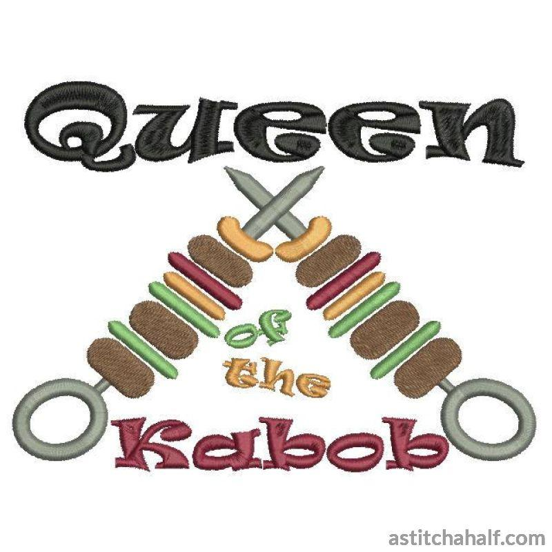 Queen of the Kabob or Kebab - a-stitch-a-half