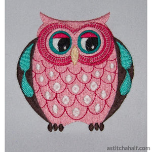 Razzle Dazzle Owl and Key Tag - a-stitch-a-half