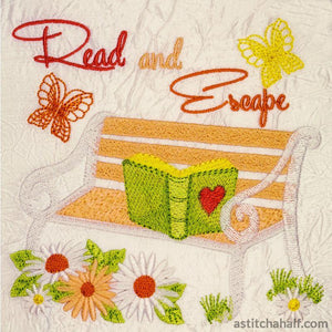 Read And Escape Garden Seat Embroidery Fill