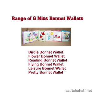 Reading Bonnet Wallet - a-stitch-a-half