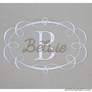 Ribbon Frame - a-stitch-a-half