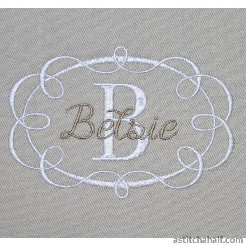Ribbon Frame Embroidery Fill