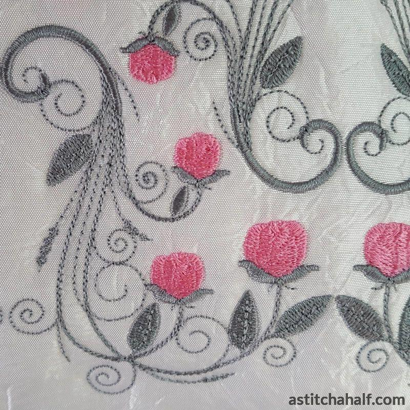 Ring Of Roses Pillow Quilt Collection Embroidery Fill