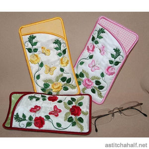 Rose Bud Eyeglass Case - a-stitch-a-half