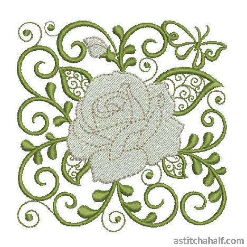 Rose Edinburgh Embroidery Fill