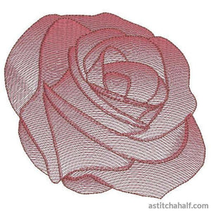 Rose Flower Transparency Embroidery Fill