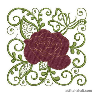 Rose of my Heart - a-stitch-a-half