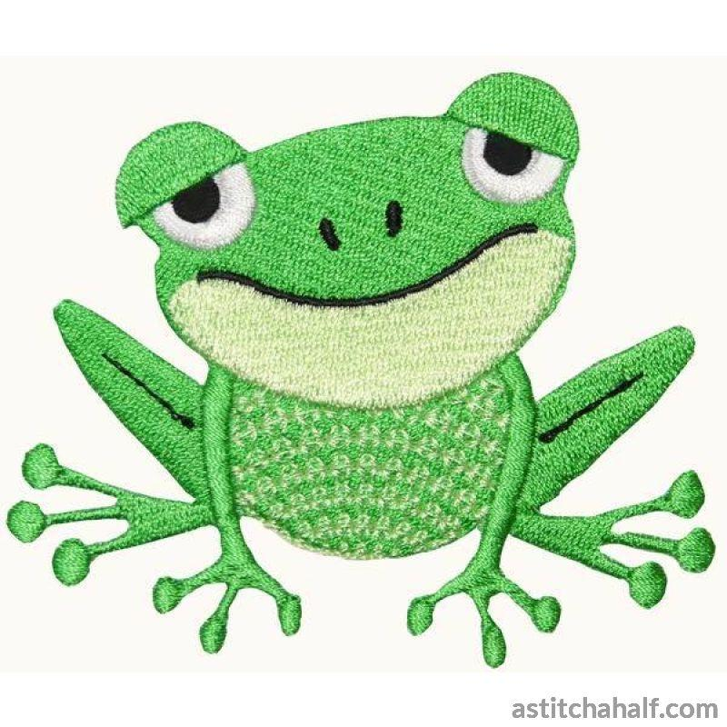 Shirley Shy Frog Embroidery Fill