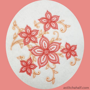 Simple Accent Lily Combo Embroidery Fill