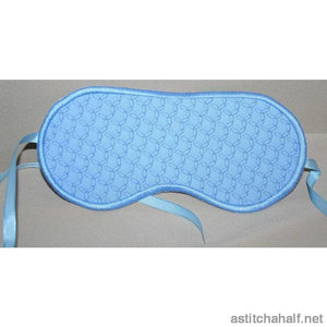Simple Lace Eye Mask - a-stitch-a-half