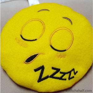 Sleepy Emoji Ith Zipper Bag All In The Hoop