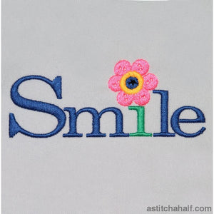 Smile Button Embroidery Fill