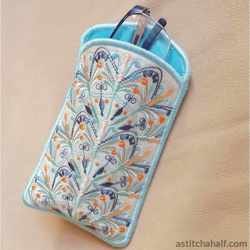 Snow Song Eyeglasses Case - a-stitch-a-half